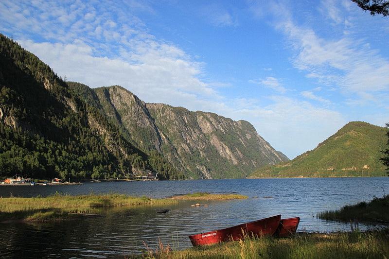 Bandak, Beginn des Telemarkkanals