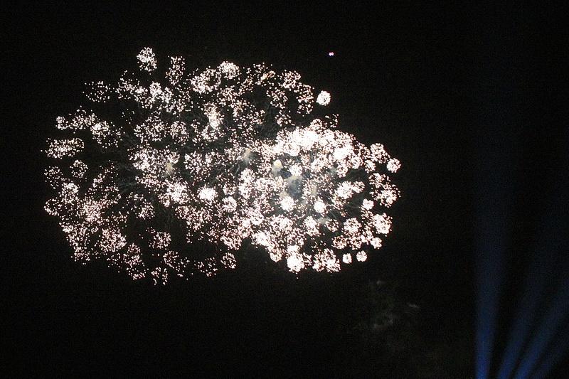 Auch das Feuerwerk ist beeindruckend.