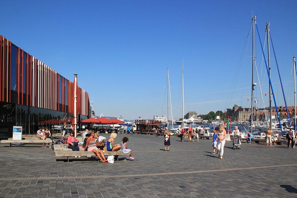Die Touristinformation in der Nähe des Fischmarktes