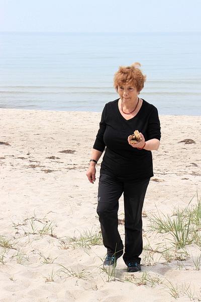 Inge sammelt Treibholz - sie hat schon tolle Ideen im Hinterkopf!