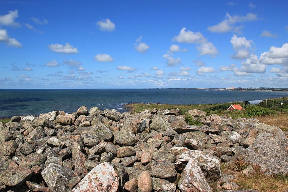 Der Gipfel! Von hier aus sieht man Falkenberg und Skrea Strand.