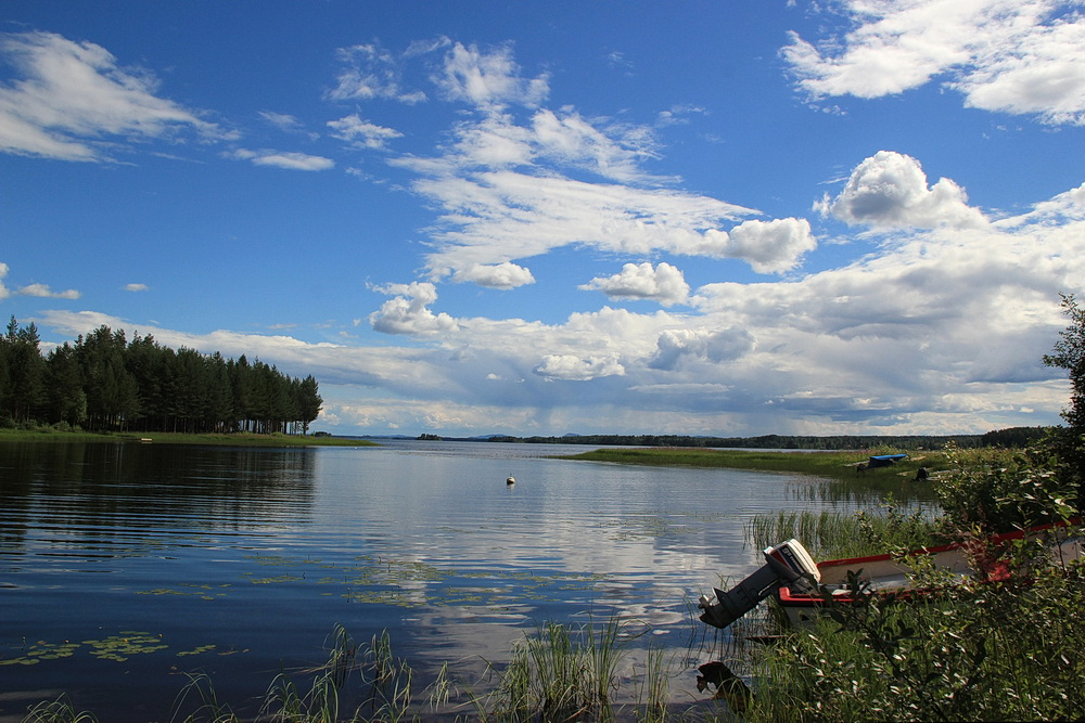 Blick über den Orsasjön