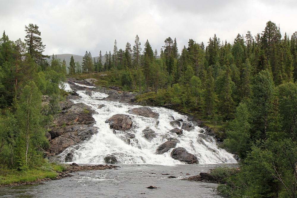 Der Wasserfall ist einer der kleineren, trotzdem schön!