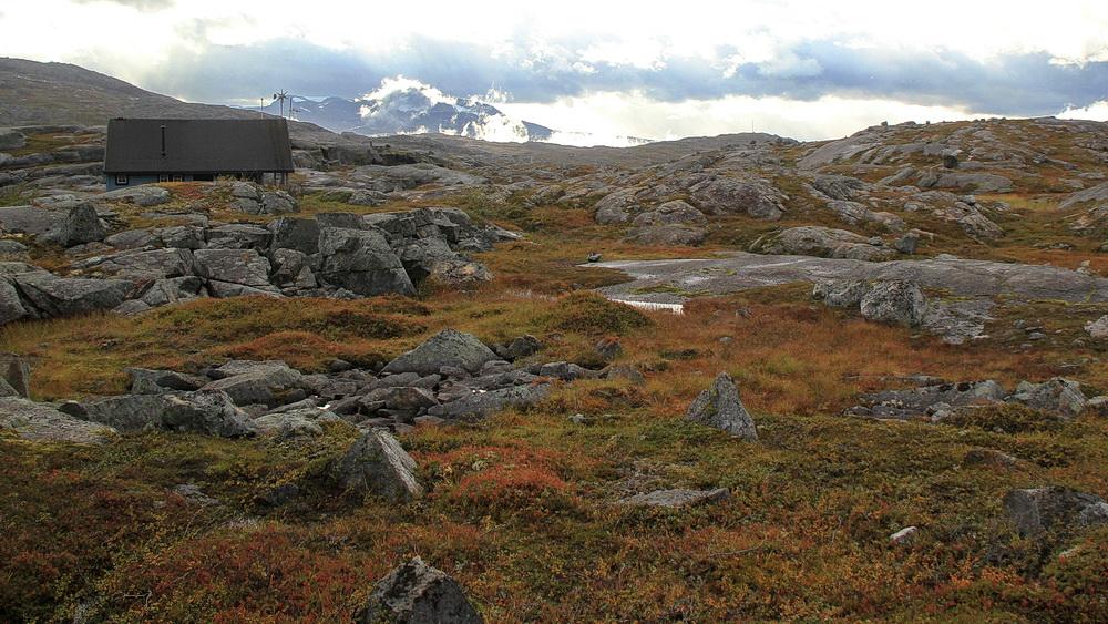 Auf der E 10 fahren wir durch`s Björnfjell - eine faszinierende Landschaft.