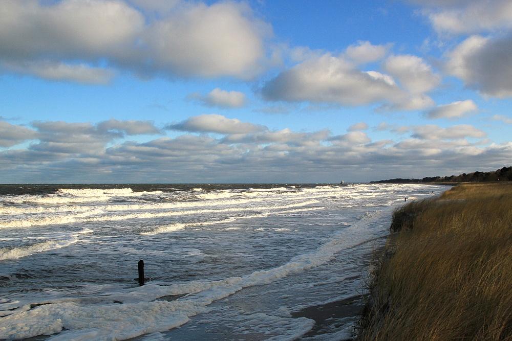 Am 6. Januar ist dann vom Strand gar nichts mehr da - wir müssen nach Bresewitz ausweichen!