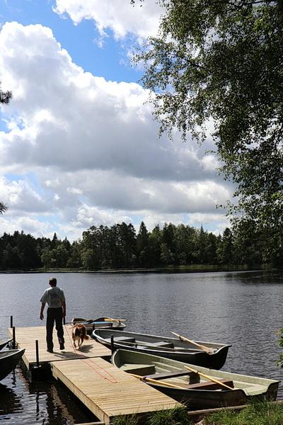 Unser erstes Teilziel -  die Anglerstelle am Stora Ullasjön